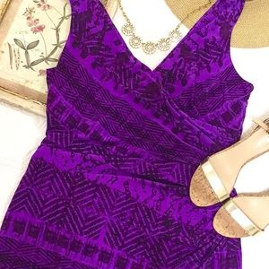 Lauren Ralph Lauren Purple Ruched Dress